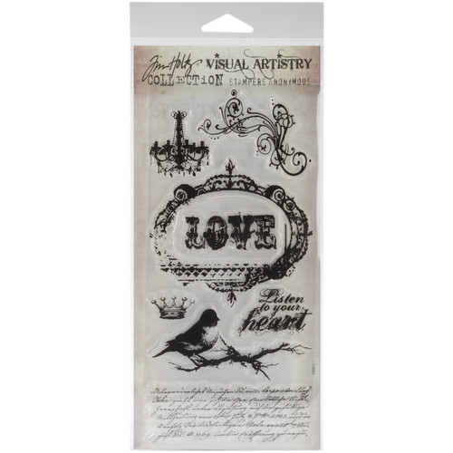 Tim Holtz Urban Grunge Clear Cling Stamp Set by Stampers Anonymous