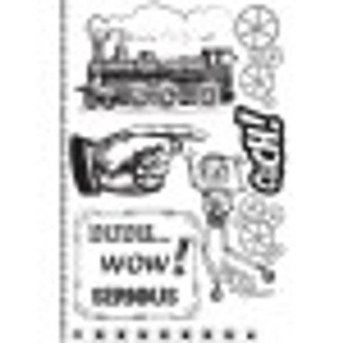 Craftsman Rubber Cling Stamp Set by Prima