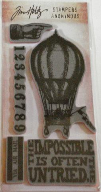 Tim Holtz The Impossible Rubber Cling Stamp Set by Stampers Anonymous