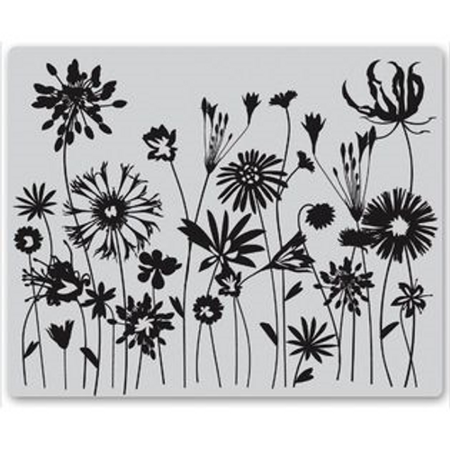 Blooming Meadow Rubber Cling Stamp by Hero Arts