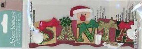 Santa Title Sticker by Jolee's Boutique