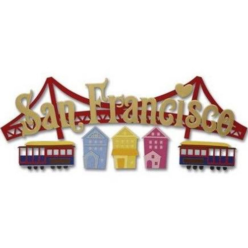 San Francisco Title Sticker by Jolee's Boutique