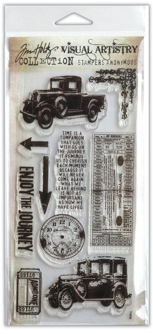 Tim Holtz The Journey Clear Cling Stamp Set by Stampers Anonymous