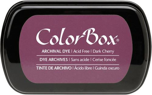 ColorBox Dark Cherry Red Archival Dye Inkpad by Clearsnap