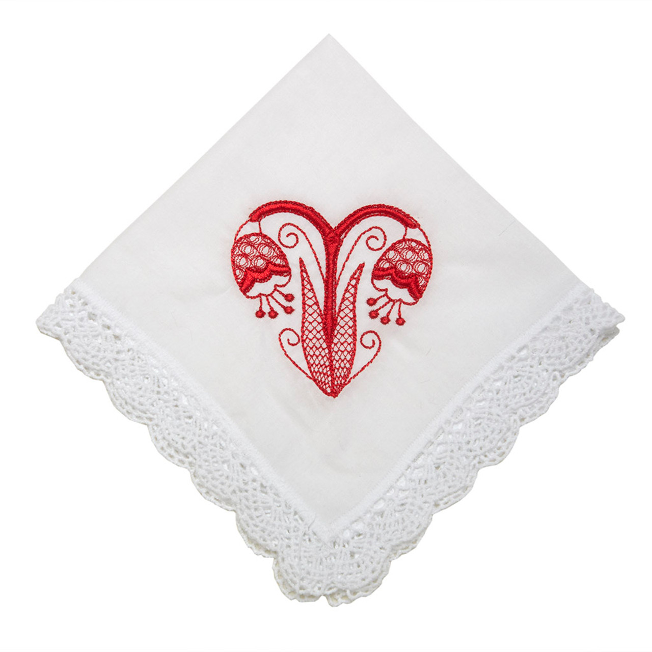 1 Handkerchief 23 cm heart and more