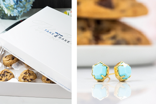 "Kendra Scott ""Logan"" + Truffles + Take & Bake Gift Set"