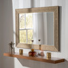 Image of Arden Black Rectangular Mirror