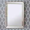 Image of Beaded Champagne Silver Mirror