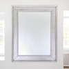 Image of Black Silver Wide Framed Dressing Mirror