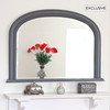 Image of Dark Grey Diana Overmantle Mirror