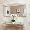 Image of Deep Large All Glass Framed Wall Mirror