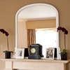 Image of Delphine White Overmantle Mirror