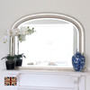 Image of Diana Antiqued Silver Overmantle Mirror