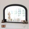 Image of Diana Black Overmantle Mirror