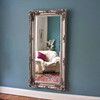 Image of Embellished Silver Design Mirror
