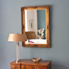 Image of Gold Antiqued Hatched Mirror