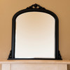 Image of Isabella Black Overmantle Mirror