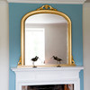 Image of Isabella Gold Overmantle Mirror