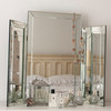 Image of Large Bevelled Dressing Table Triple Mirror