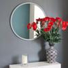 Image of Modern Light Grey Round Mirror
