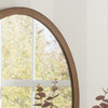 Image of Modern Oval Bronze Mirror