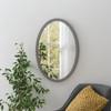 Image of Modern Oval Dark Grey Mirror