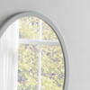 Image of Modern Oval Light Grey Mirror