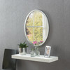 Image of Modern Oval Silver Mirror