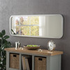 Image of Modern Silver Oblong Mirror