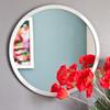 Image of Modern Silver Round Mirror