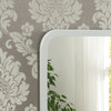 Image of Modern White Oblong Mirror