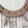 Image of Round Wooden Helm Mirror