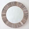 Image of Round Wooden Mirror