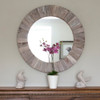 Image of Round Wooden Mirror