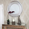 Image of  Black Silver Round Mirror