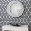 Image of White Round Recycled Mirror