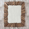 Image of Rectangular Spoke Driftwood Mirror