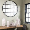 Image of Brookby Beveled Iron Grid Mirror