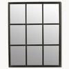 Image of Brookby Small Black Window Mirror