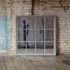 Image of Wilton Grey Mirror With Wooden Grid