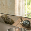 image of Angled antique mottled mirror