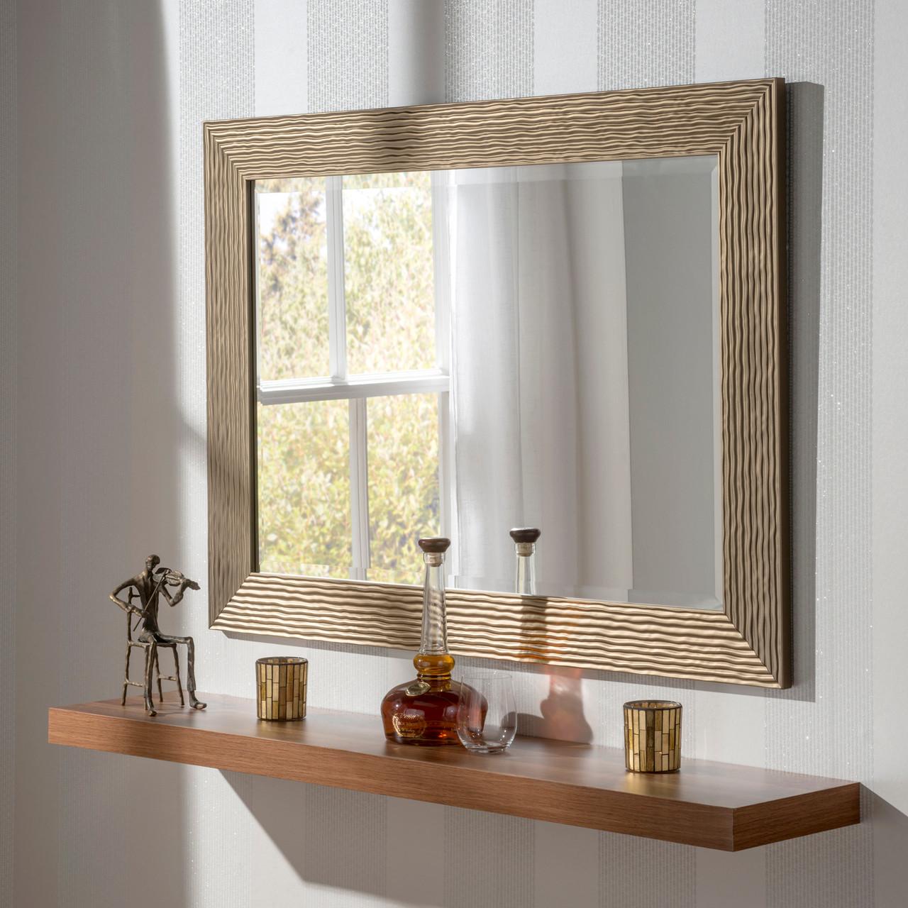Image of Arden White Rectangular Mirror