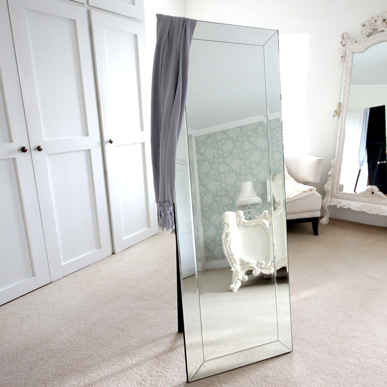 Image of Bevelled Cheval Mirror