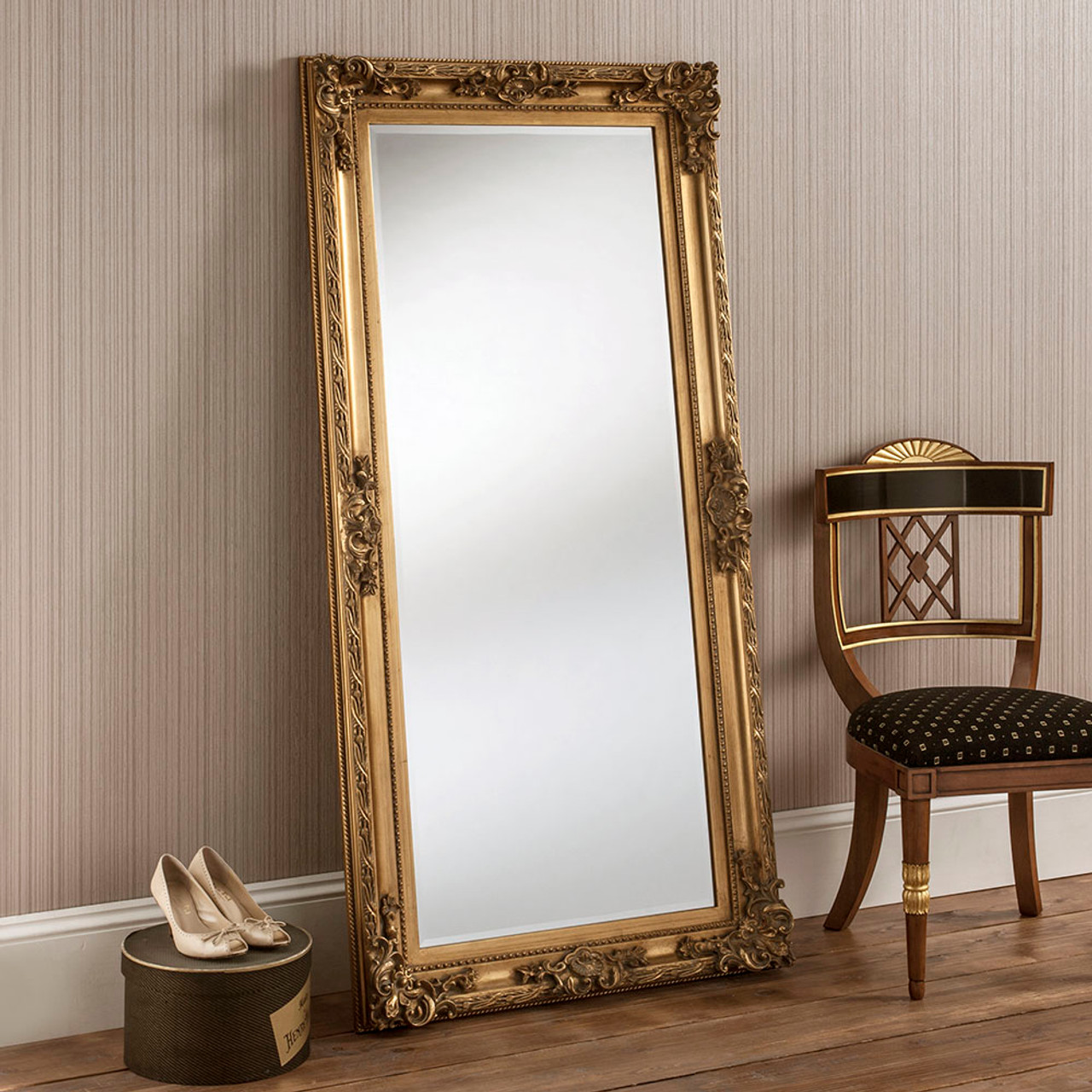Bevelled Gold Full Length Mirror See Our Range Of Dressing Mirrors