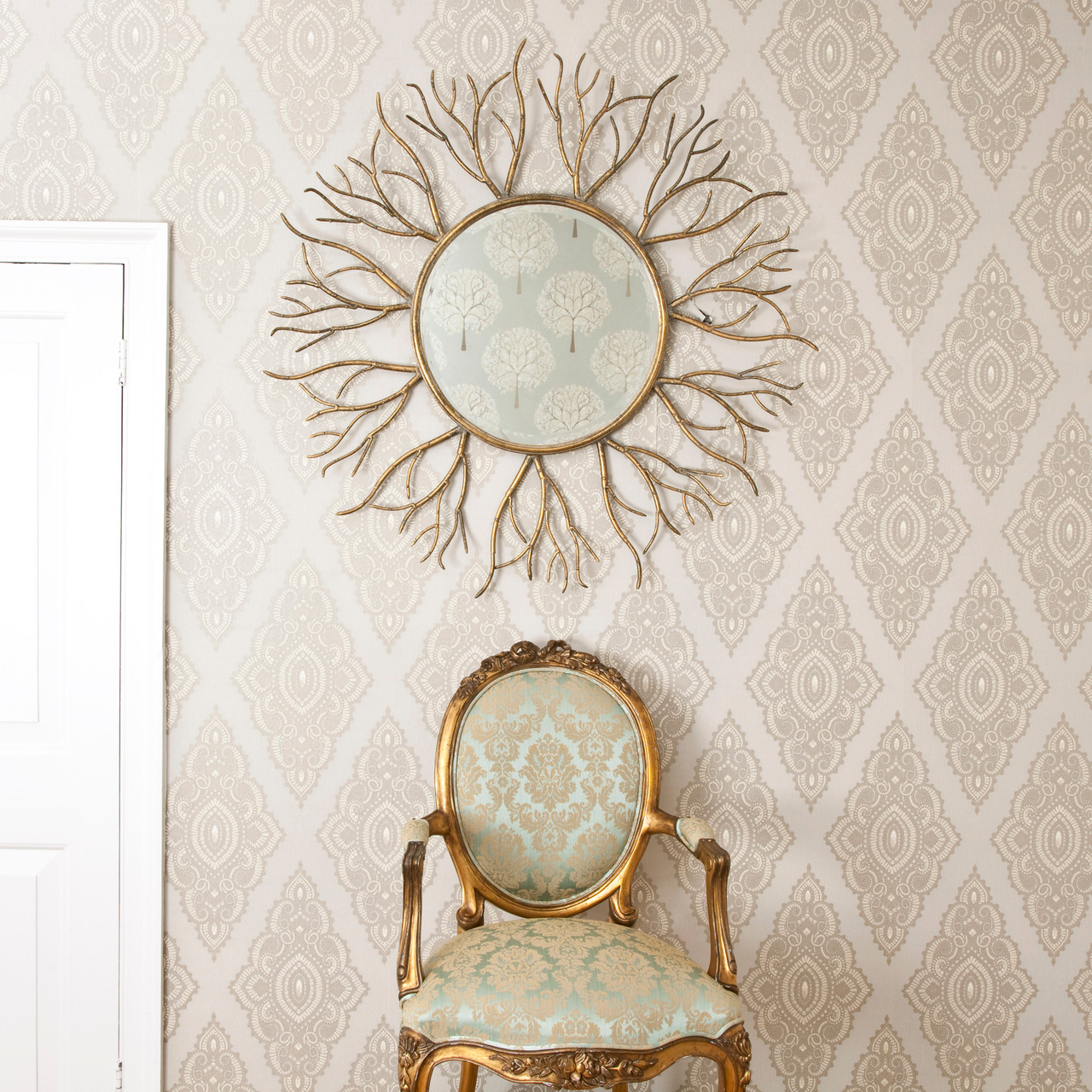 Image of Bronze Gold Twigs Mirror