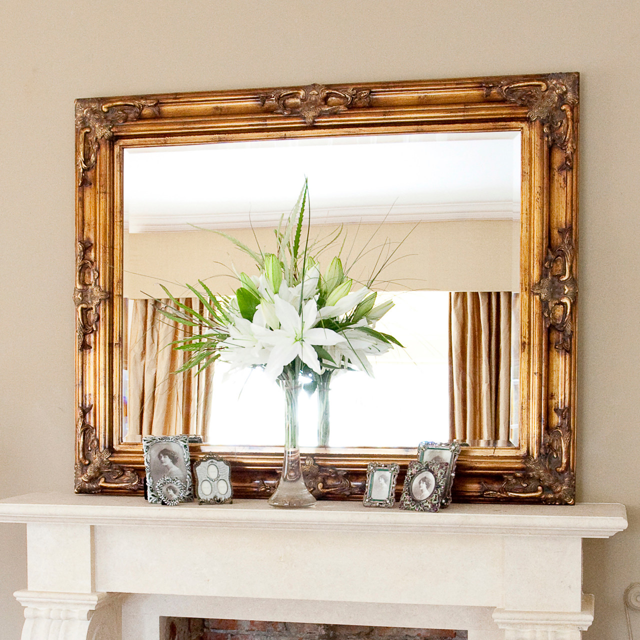 Image of Classic Ornate Gold Mirror