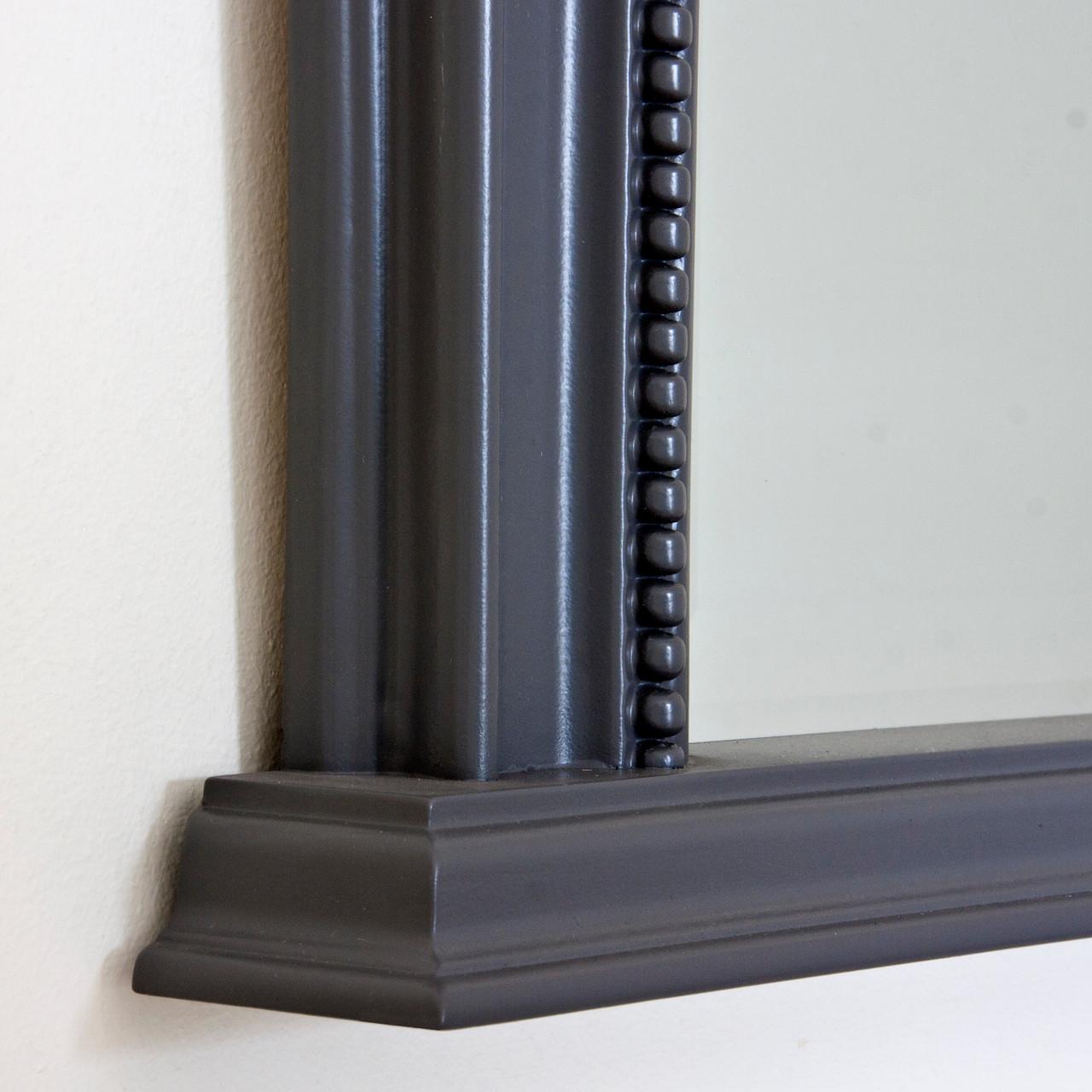 Image of Dark Grey Diana Overmantle Mirror