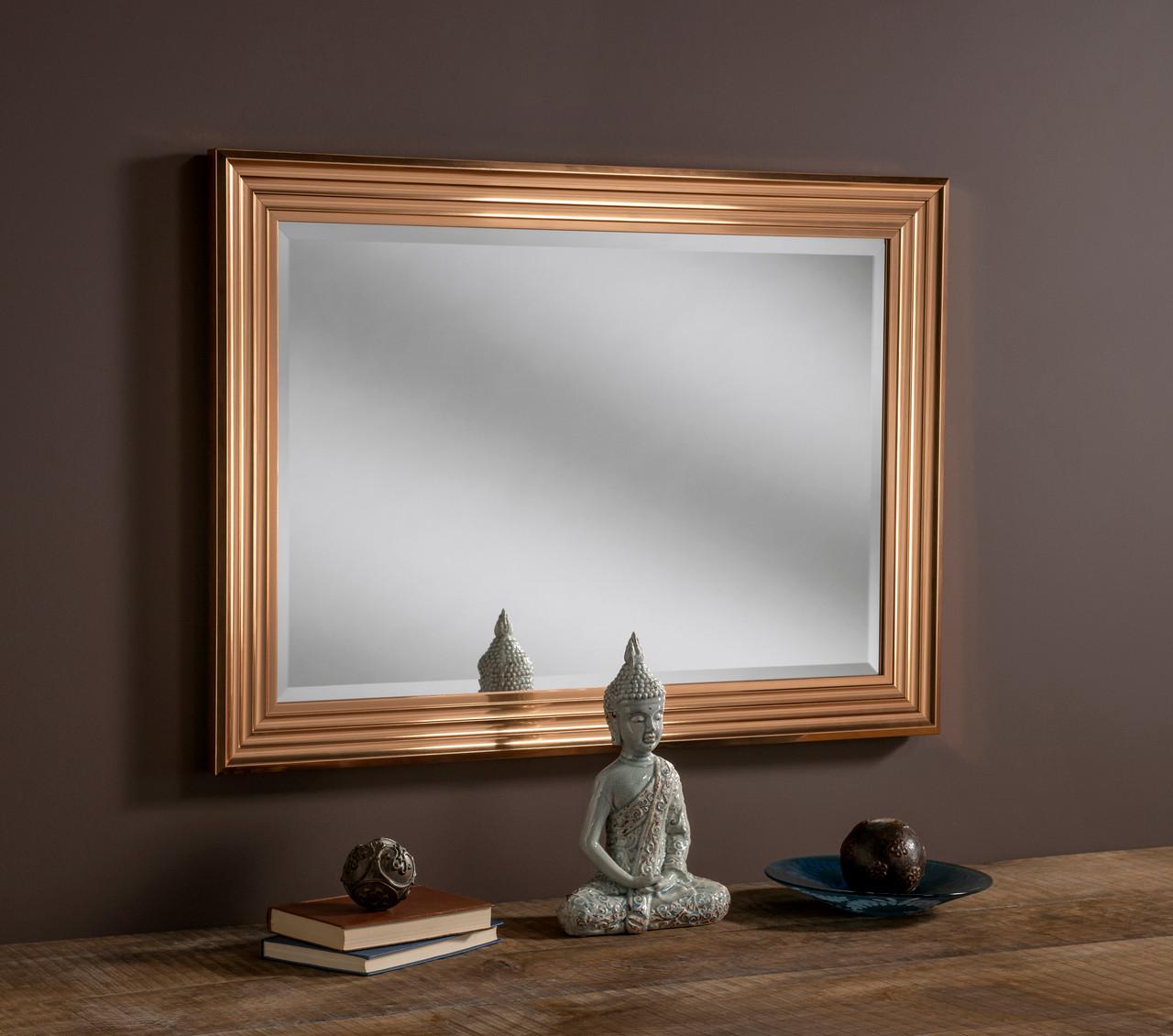 Image of Dash Copper Rectangular Mirror
