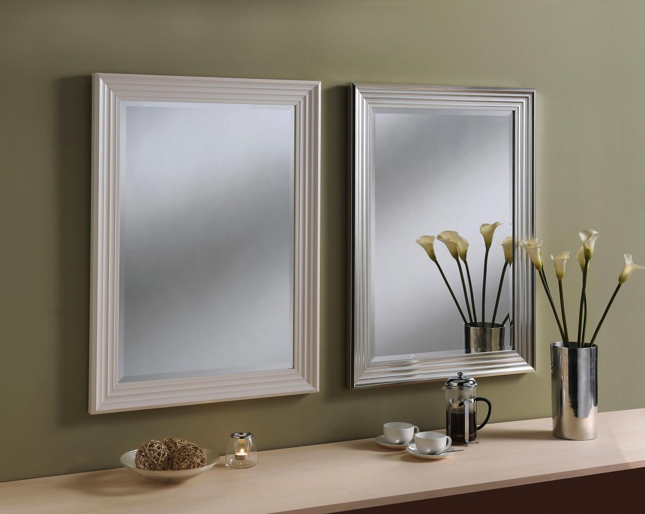 Image of Dash White Rectangular Mirror