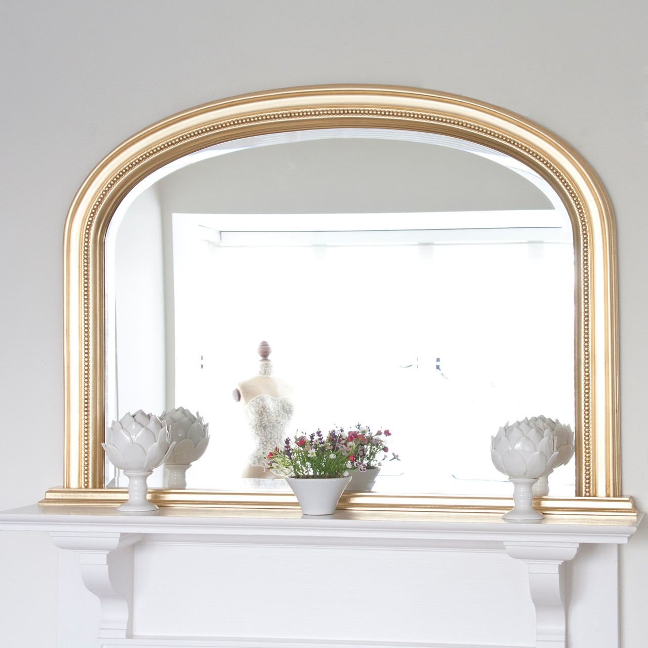 Image of Diana Gold Overmantle Mirror